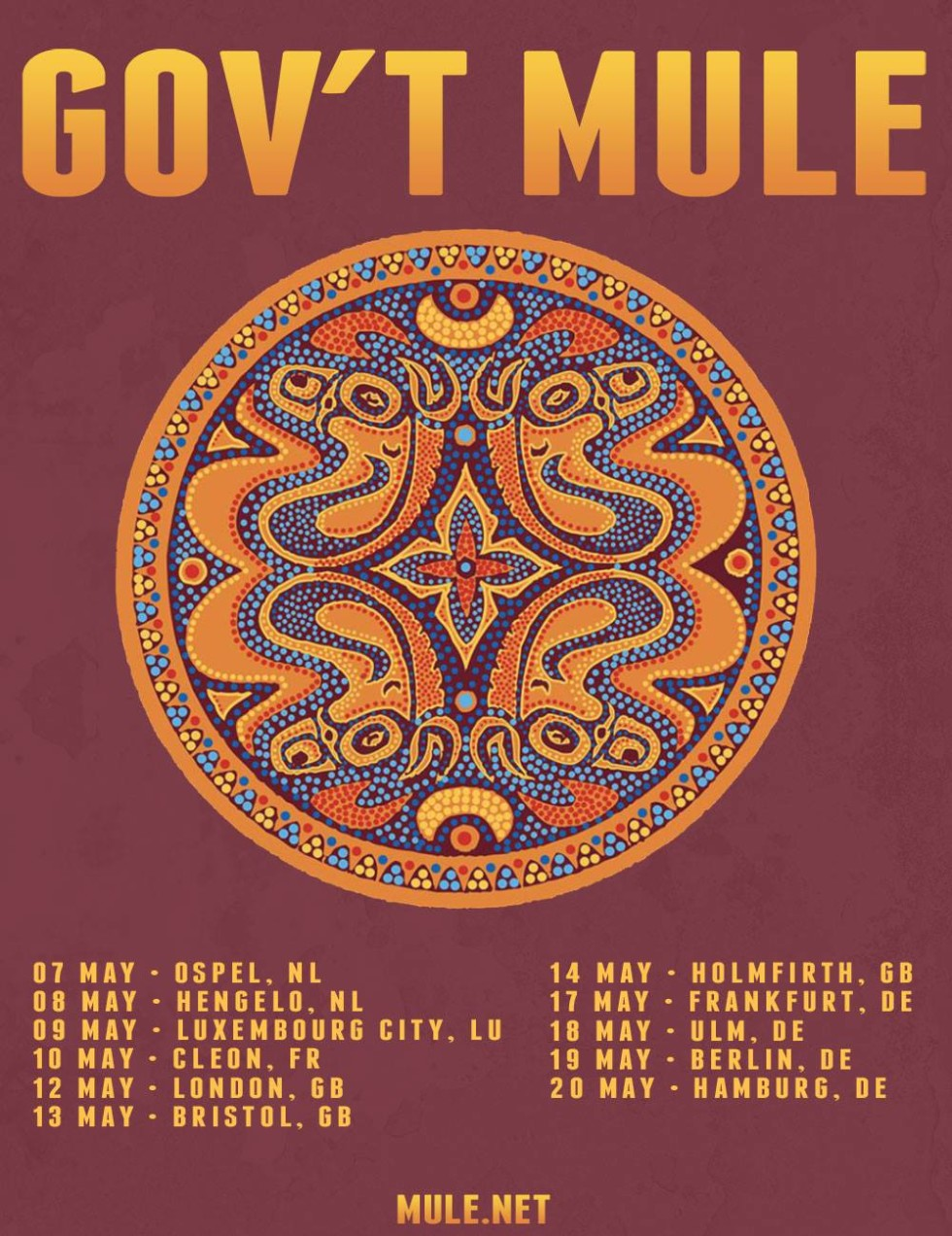 Gov't Mule European Tour 2016